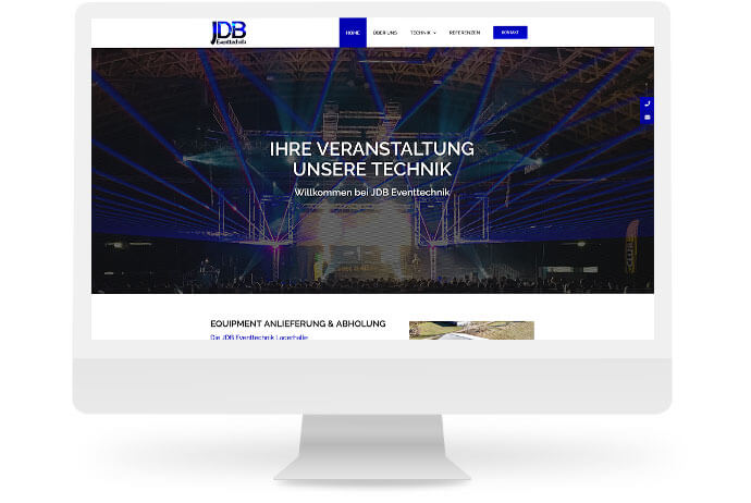 Webschmiede Referenz: JDB Eventtechnik