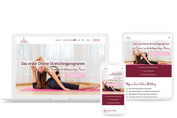 Webschmiede Referenz: Sisers Stretching